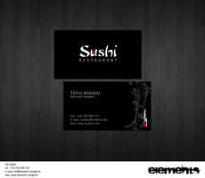 Sushi Restaurant name card by amaru7