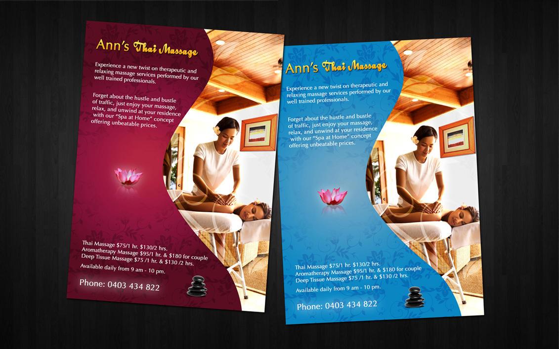 massage flyer by amaru7 on deviantart. Black Bedroom Furniture Sets. Home Design Ideas