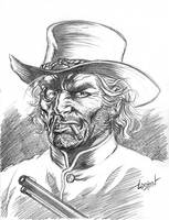 Jonah Hex Sketch 2 by LostonWallace