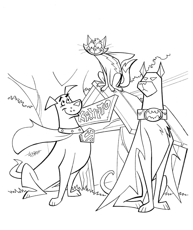 superman and superdog coloring pages - photo#17