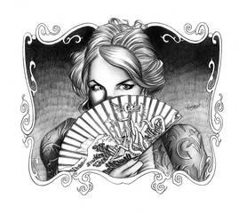 Becky Sharp Title Illustration