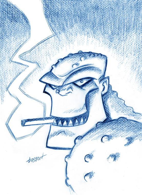 Killer Croc Sketch by LostonWallace