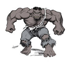 Gray Hulk by LostonWallace