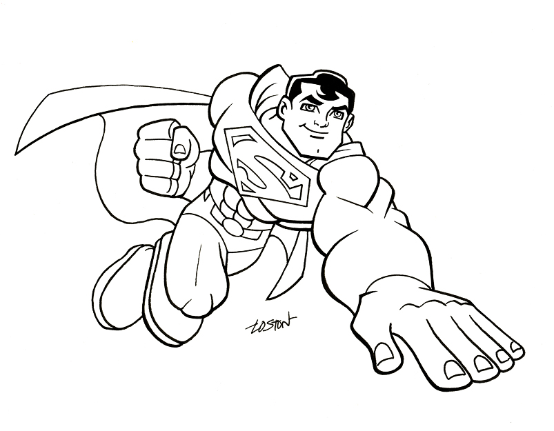 super friends coloring pages. Super Friends  Superman by LostonWallace on DeviantArt