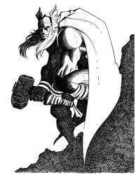 Romita Jr's Thor- Inked by LostonWallace