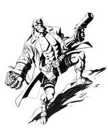 Hellboy Drawing by LostonWallace