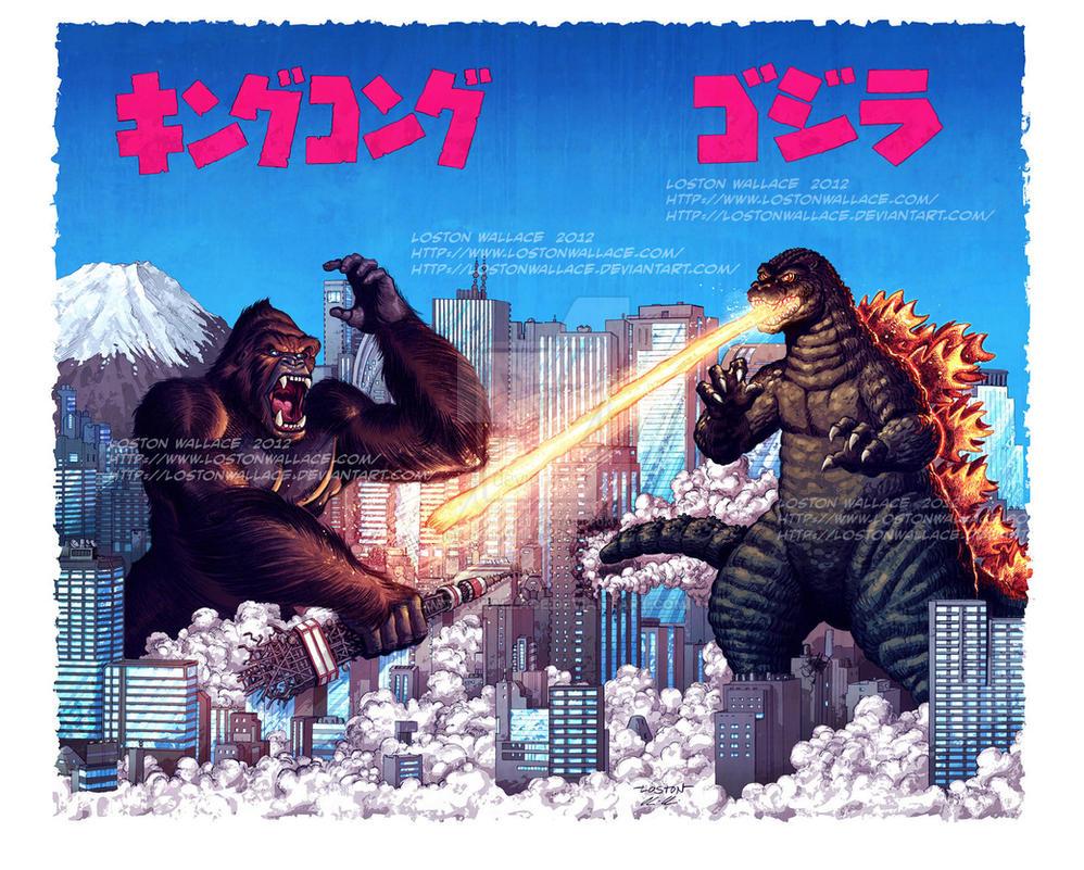 King Kong vs Godzilla Color by