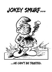 Jokey Smurf by LostonWallace