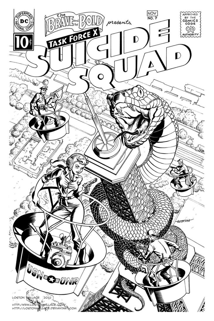 Suicide Squad Cover Commission by LostonWallace