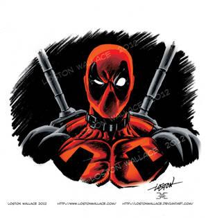 Deadpool Headshot in Color