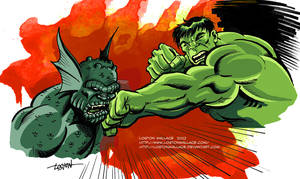 Hulk VS Abomination by LostonWallace
