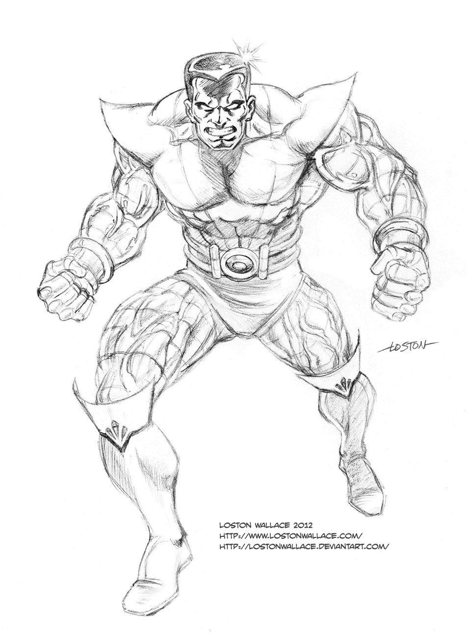 Line Art Marvel : Juggernaut marvel line art coloring pages