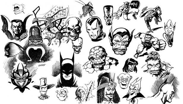 Sketch Jam! Batman Hulk Iron Man Spider-Man