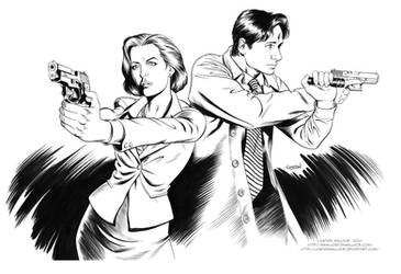 X-FILES: AGENT SCULLY and AGENT MULDER INKS by LostonWallace