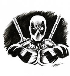 Deadpoolhead by LostonWallace