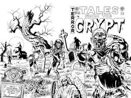TALES FROM THE CRYPT ZOMBIE COVER COMMISSION by LostonWallace