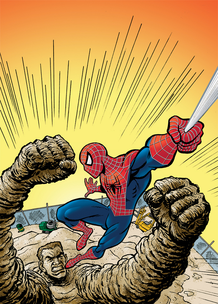 sandman spiderman comic - 700×976