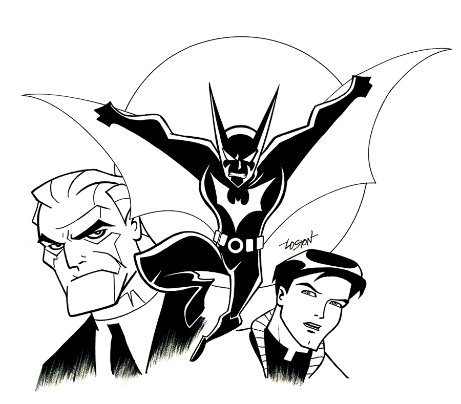 This is an image of Terrible batman beyond coloring pages