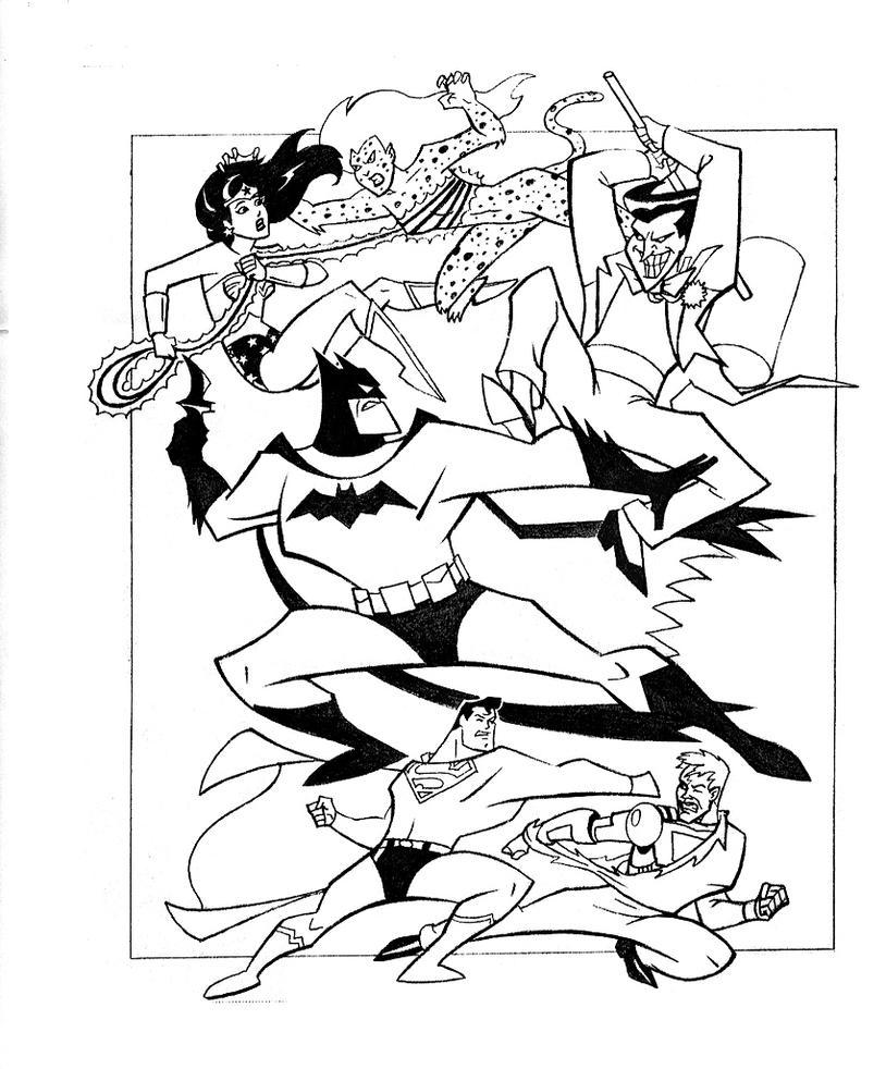 super villians coloring book pages - photo#21