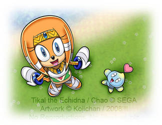 Tikal and Chao - By the river