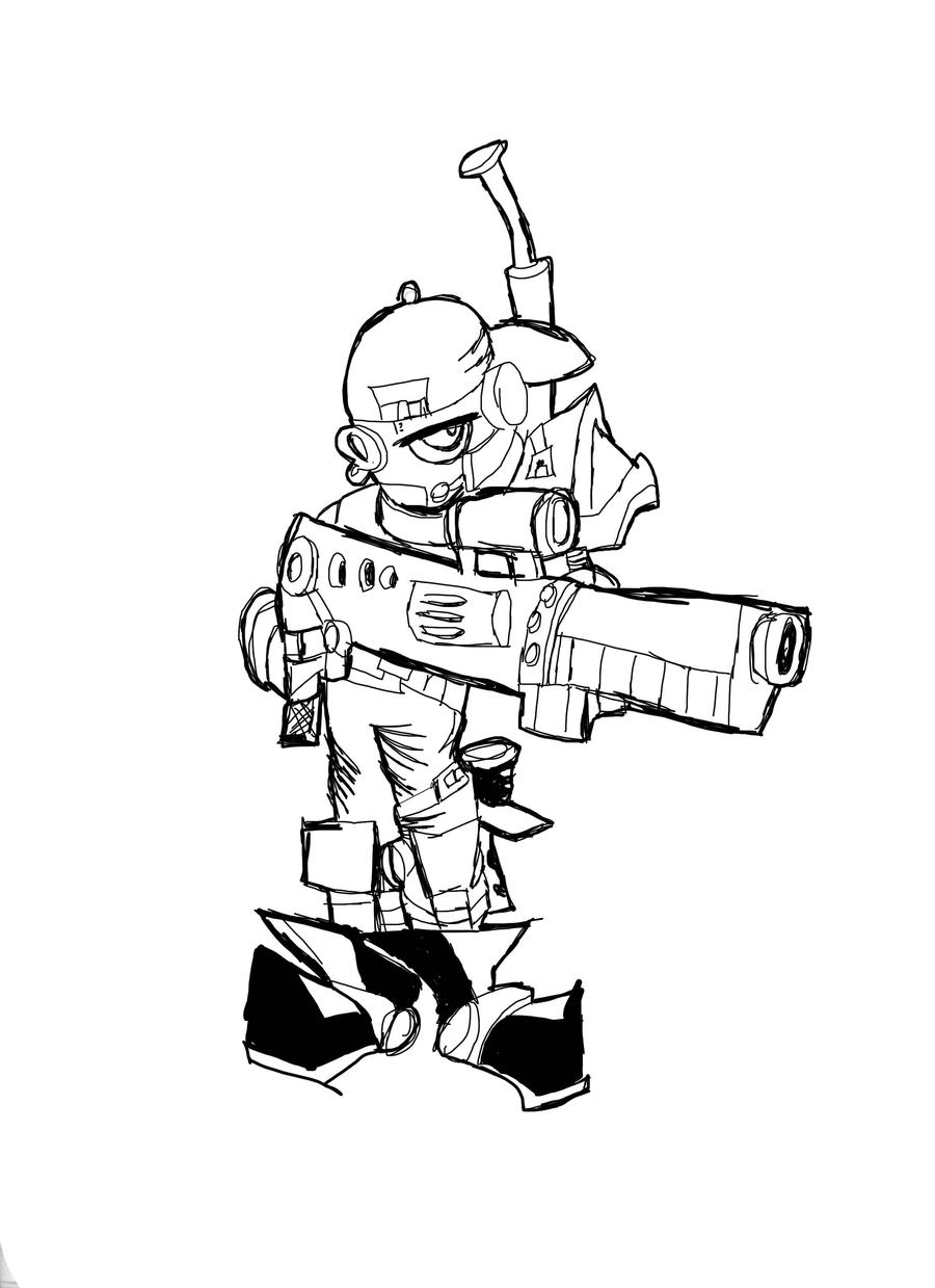 Iron Armies - Rebel Sharpshooter (wip) by DaveTheSodaGuy