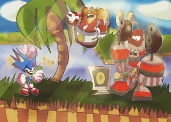Sonic Heat N Fire First Boss by DaveTheSodaGuy