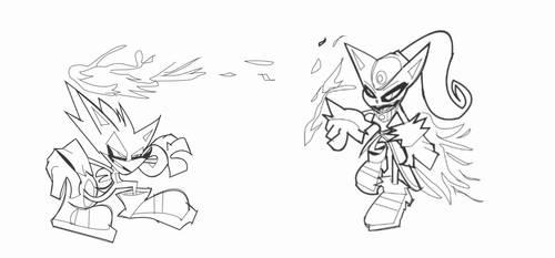 Sonic Vs Blaze by DaveTheSodaGuy