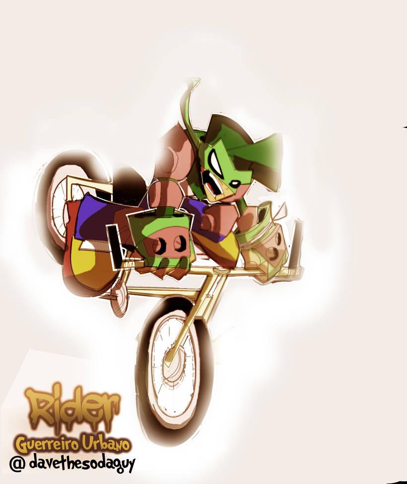 Rider Urban Warrior Cycle Ridin' by DaveTheSodaGuy