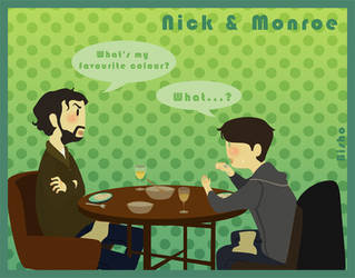 Grimm - Nick + Monroe - Dinner by Bisho-s
