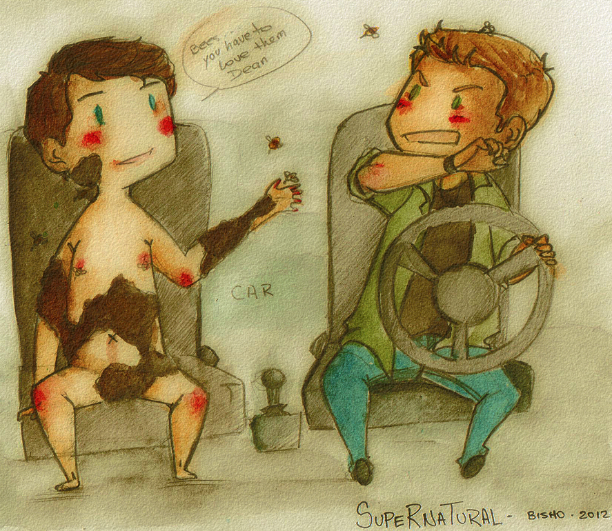 Supernatural - Castiel Loves Bees by Bisho-s