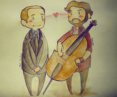 Grimmvengers - About that cellist from Portland by Bisho-s