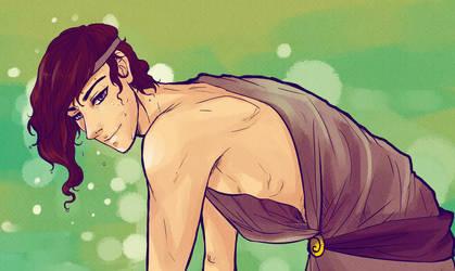 Disney Genderbend - Hercules - Meg by Bisho-s