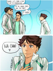 Haikyuu - Stage Play - IwaOi by Bisho-s