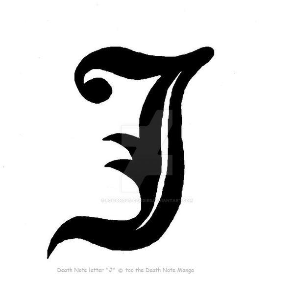 Death Note Letter J By Poisonous-Candies On DeviantArt