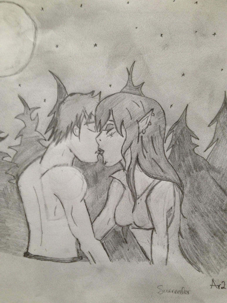 Kiss Battle by Artwo-Dtwo