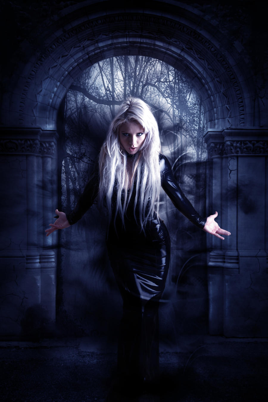 dark witch by muratmiregil watch digital art photomanipulation dark