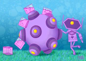Shockwave Katamari by bunnybot