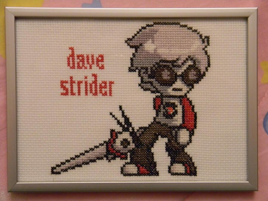 Dave Strider Cross Stitch by imacrazytrekkie