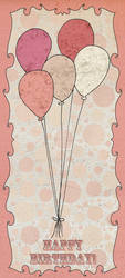 Circus Balloons Birthday Card by CarlyMyles