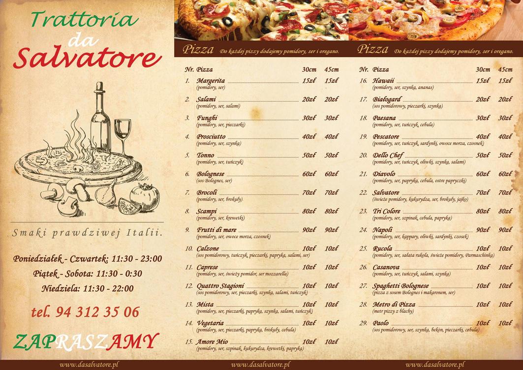 Doc128165 Italian Menu Italian Restaurant Menu Template – Italian Menu