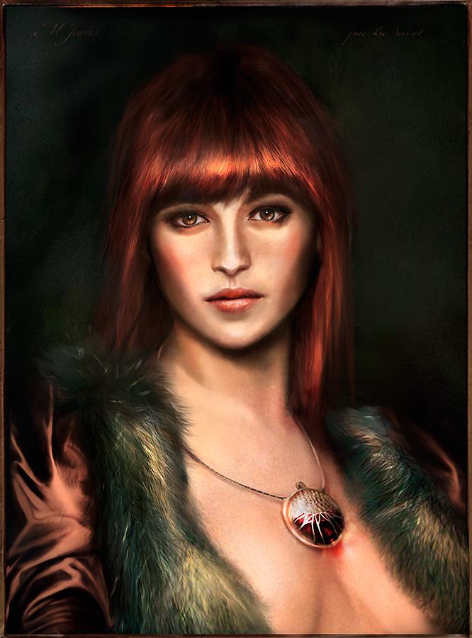 Portrait of M. J. by VirginieCarquin