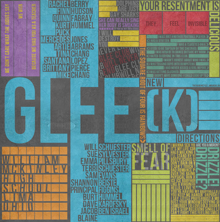 Glee Type Poster