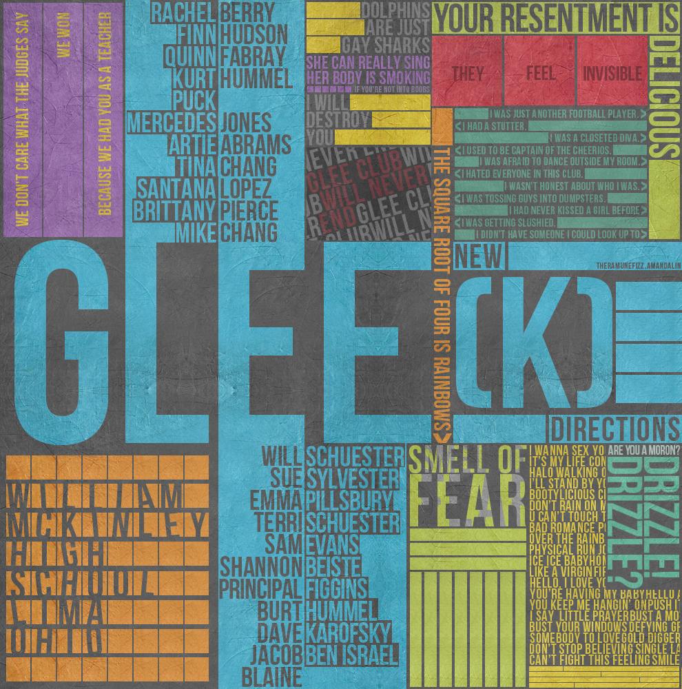 Glee Type Poster by theramunefizz on DeviantArt
