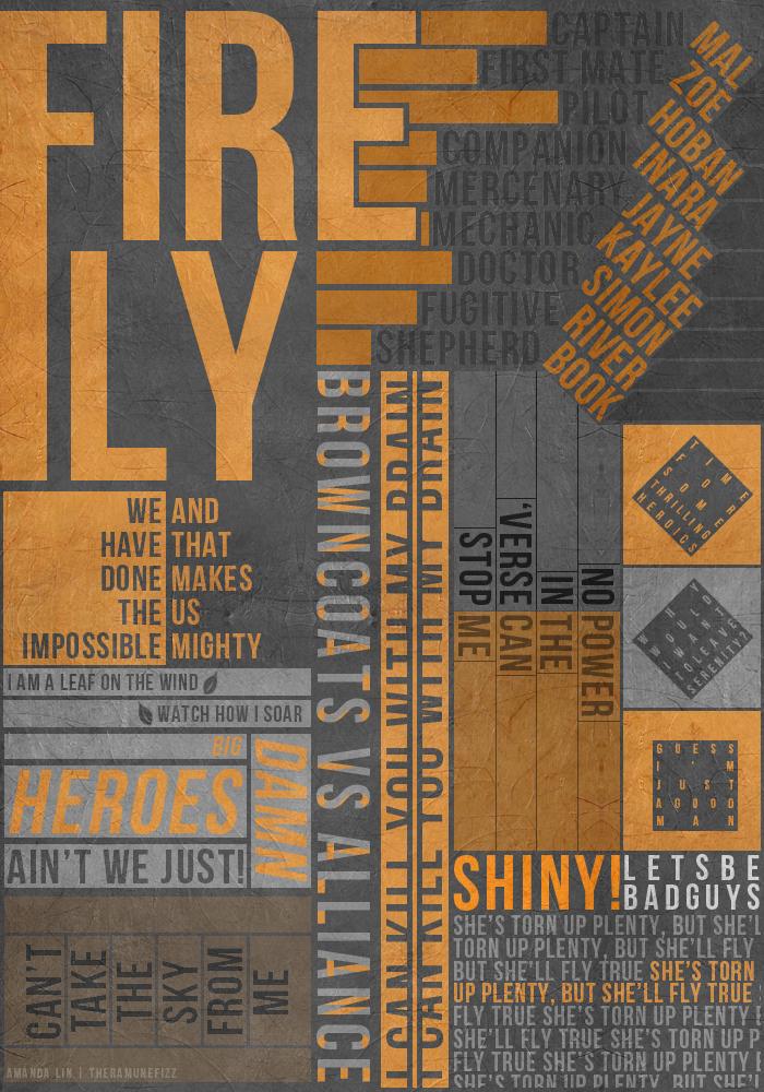 Firefly Typography Poster v.2 by theramunefizz