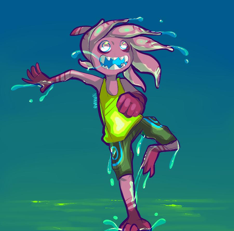 -Slime Eel- by Nyanamo