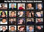 My Top 20 favorite voice actors/actresses