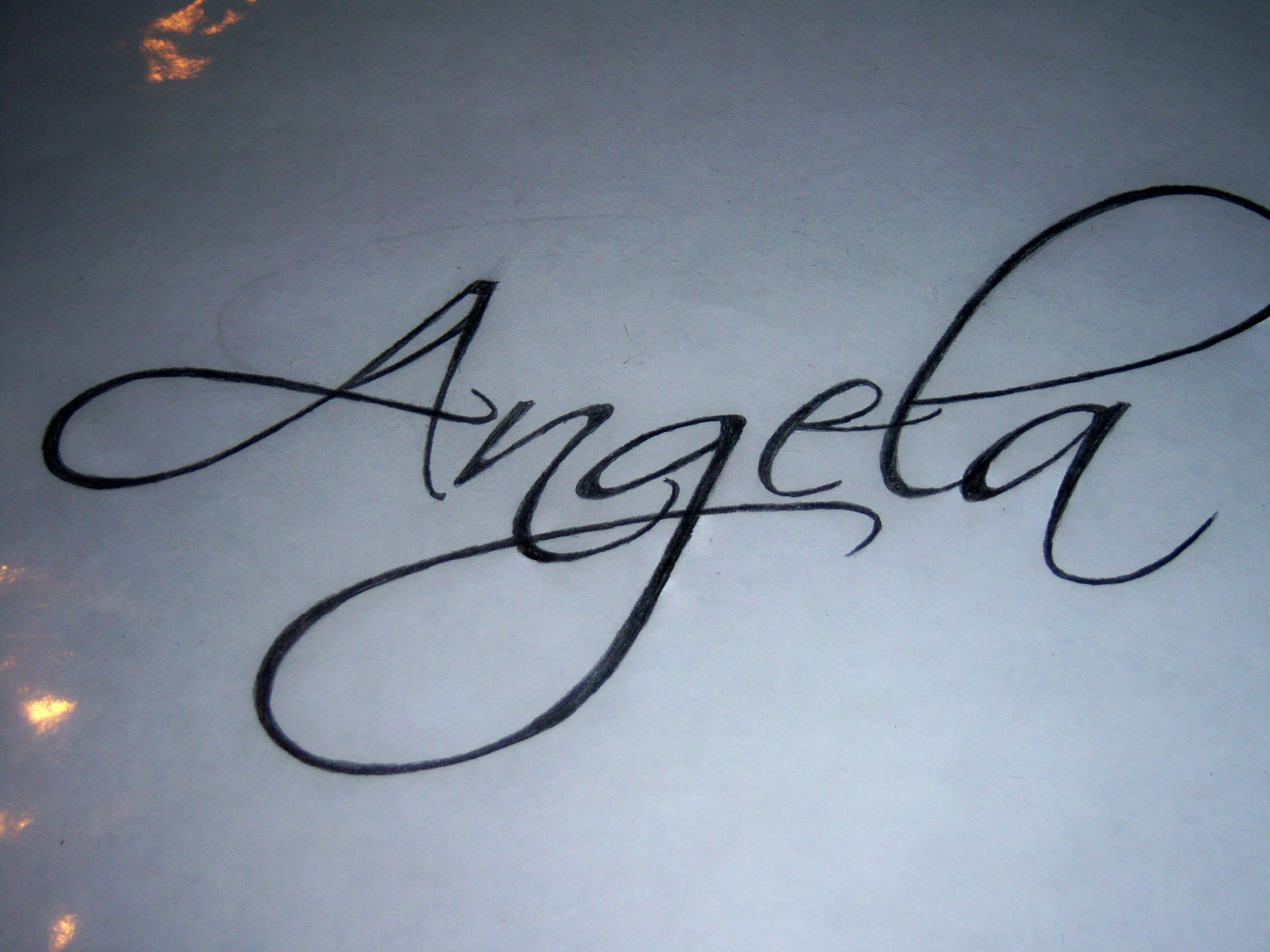 Красивый почерк тату фото
