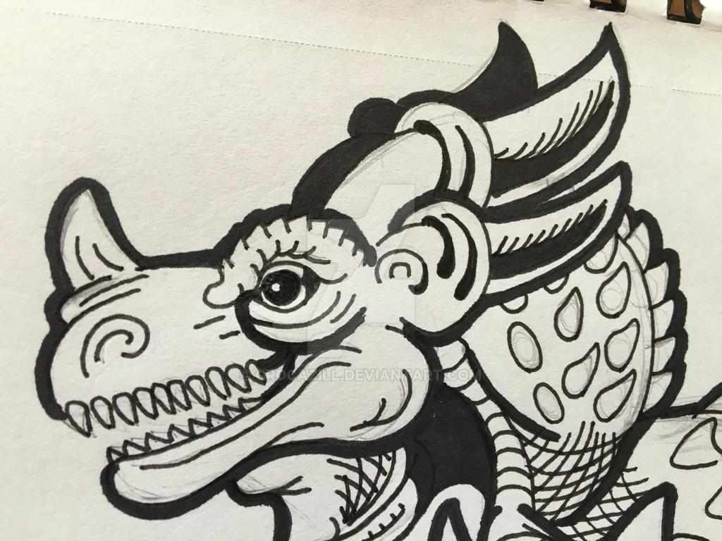 Kaiju-in-progress by Crocazill