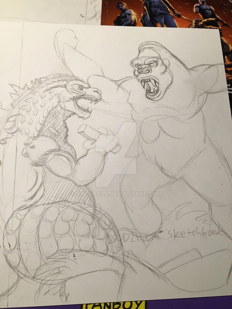 Kong vs Godzilla WIP by Crocazill