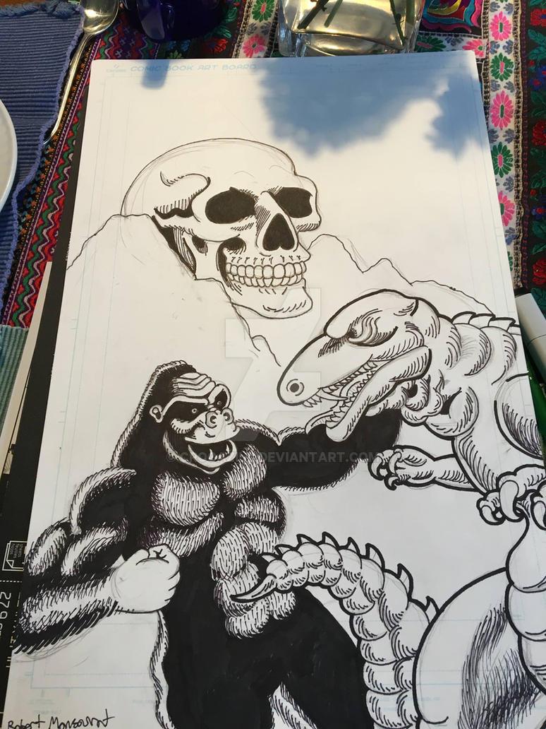 Kong vs. Gorosaurus WIP by Crocazill
